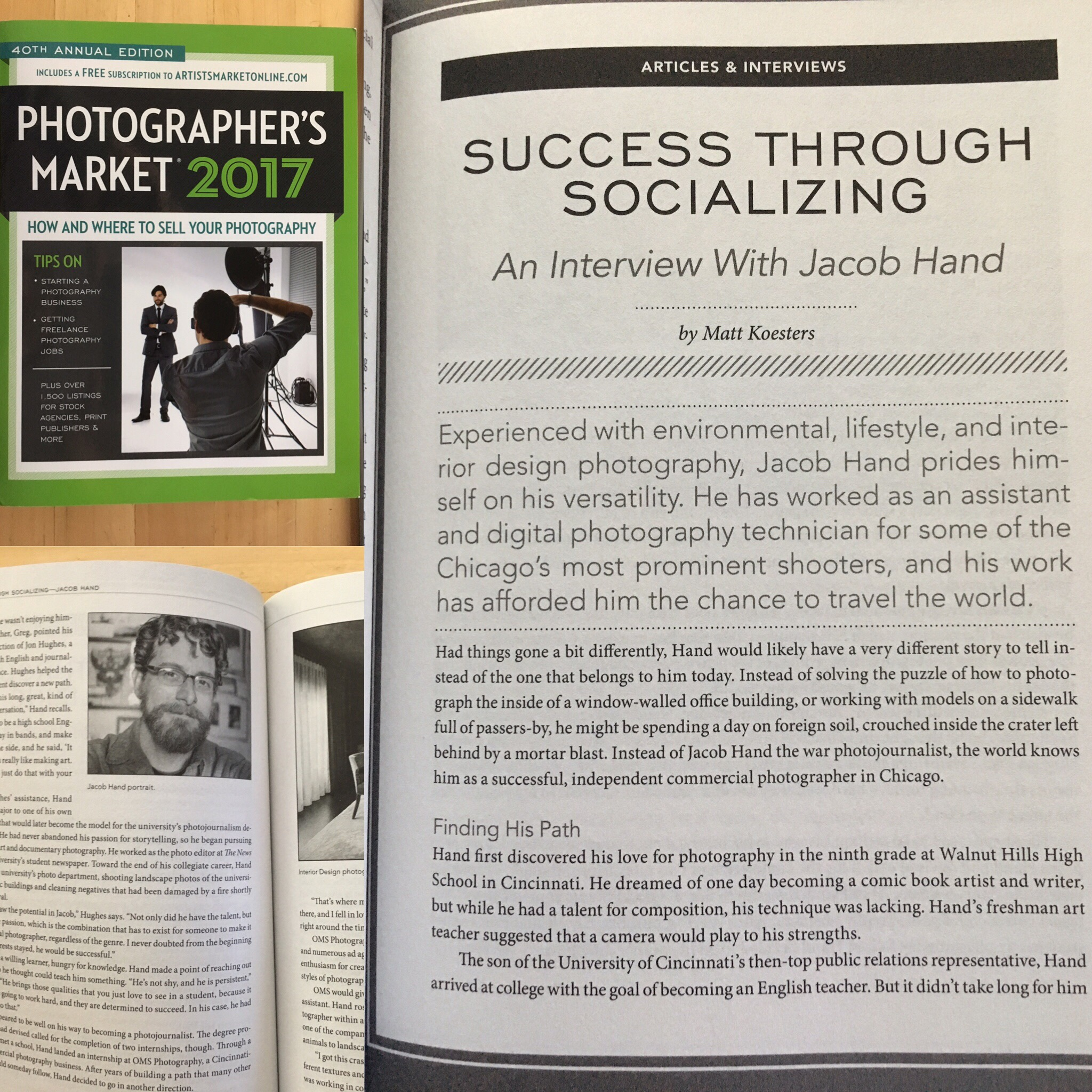 Jacob Hand is featured in Photographer's Market 2017